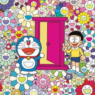 メディコムトイ(MEDICOM TOY)のステイシー様専用 村上隆 お花畑の中の『どこでもドア」ポスター(ポスター)