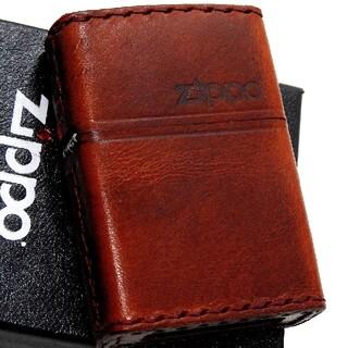 ジッポー(ZIPPO)の(送料込み)ZIPPO◇本革/ヴィンテージレッド◇Zippoロゴ◇新品ジッポ(タバコグッズ)