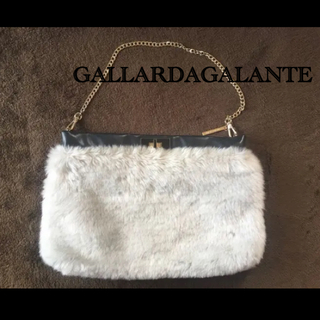 ガリャルダガランテ(GALLARDA GALANTE)のガリャルダガランテ バック カバン グレー ファー(ハンドバッグ)