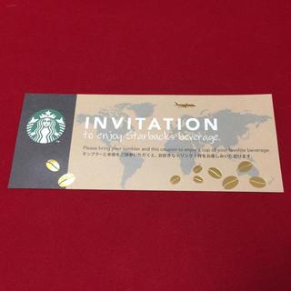 スターバックスコーヒー(Starbucks Coffee)のスターバックスドリンク無料チケット♡1枚(フード/ドリンク券)