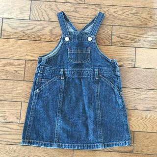 イーストボーイ デニム ジャンパースカート サイズ90 美品