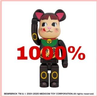 メディコムトイ(MEDICOM TOY)のBE@RBRICK 招き猫 ペコちゃん 黒メッキ 1000%(フィギュア)
