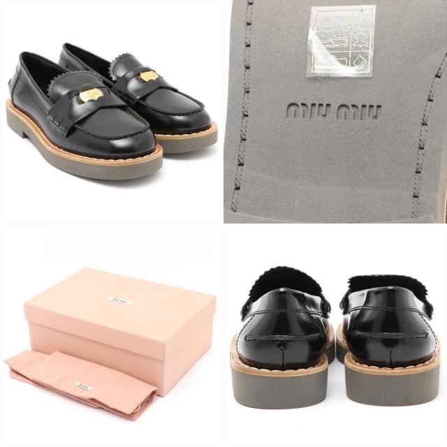 miumiu(ミュウミュウ)のミュウミュウ  レザー 36 ブラック レディース ローファー レディースの靴/シューズ(ローファー/革靴)の商品写真