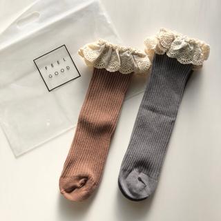 ベビー キッズ かかとなしソックス 2足組 靴下(靴下/タイツ)
