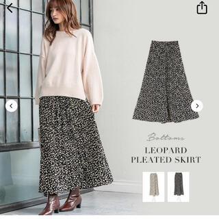 フィフス(fifth)のfifth フィフス 新品 レオパードスカート レオパード プリーツスカート(ロングスカート)