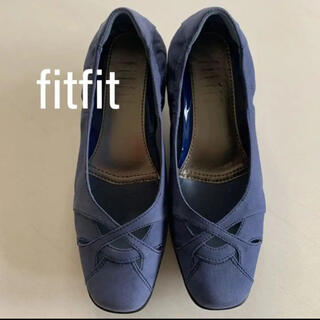 フィットフィット(fitfit)のfitfit フィットフィット スエード 靴 ブルー 24.5(その他)