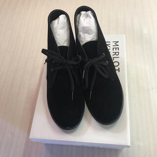 メルロー(merlot)の◆MERLOT IKYU◆黒スゥエードデザートブーツ◆(ブーツ)