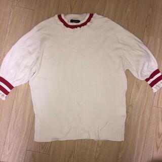 ダブルクローゼット(w closet)のw closet  トップス(ライン入りリブニット)(Tシャツ(長袖/七分))