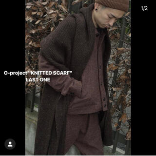SUNSEA - oproject 18aw knitted scarf