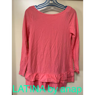 アナップラティーナ(ANAP Latina)のLATINA by anap ピンクロングTシャツ フリーサイズ(Tシャツ(半袖/袖なし))