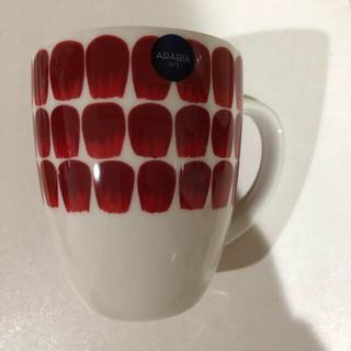 アラビア(ARABIA)のアラビアトゥオキオレッド マグカップ(グラス/カップ)