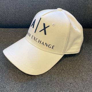 アルマーニエクスチェンジ(ARMANI EXCHANGE)のアルマーニエクスチェンジ 白 定番ロゴ キャップ CAP 帽子(キャップ)