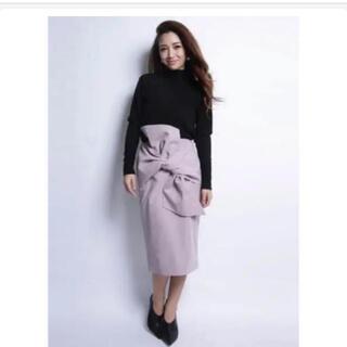 エイミーイストワール(eimy istoire)のエイミーイストワール ブラック ラップスカート(ひざ丈スカート)