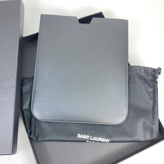 サンローラン(Saint Laurent)のサンローラン iPadケース レザー ブラック(その他)