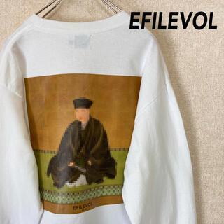 エフィレボル(.efiLevol)のエフィレボル 長袖 Tシャツ ロンT 千利休 古着 メンズ レディース 2 M(Tシャツ/カットソー(七分/長袖))