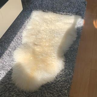 イケア(IKEA)のIKEA ファーマット 白 ラグ LUDDE ルッデ(ラグ)