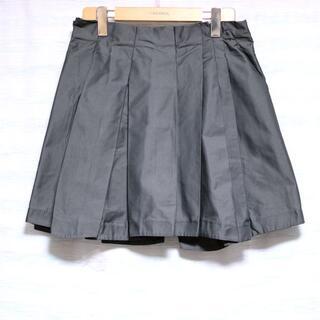 ジルサンダー(Jil Sander)の美品 ジルサンダー JIL SANDER フレア スカート チャコールグレー(ミニスカート)