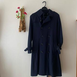 エディション(Edition)の【値引】エディション ♡ トレンチ型 コート 38 紺 美品(ロングコート)