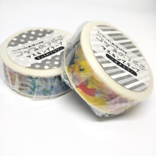 コップのフチ子 マスキングテープ 2個(テープ/マスキングテープ)