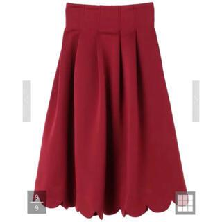 メゾンドフルール(Maison de FLEUR)のメゾンドフルール*カノン*しゃんと歩けるボリュームスカート(ひざ丈スカート)