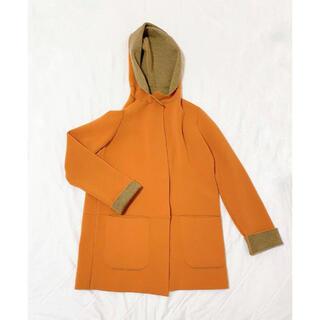 バーニーズニューヨーク(BARNEYS NEW YORK)のチビディーニ ロングコート ニットコート ジャケット セーター バージンウール(ロングコート)