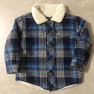 ベビーギャップ(babyGAP)のbaby Gap ベビーギャップ ボア シャツ アウター チェック 90サイズ(ジャケット/上着)