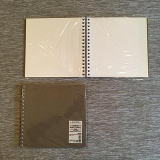 ムジルシリョウヒン(MUJI (無印良品))の無印良品 ダブルリングアルバム 2冊(その他)