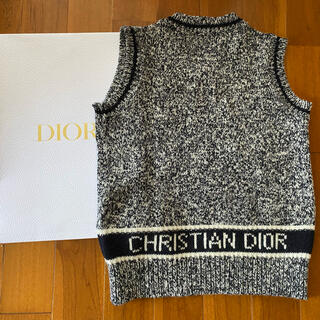 ディオール(Dior)のディオール☆Dior☆2020☆ニット☆ロゴベスト☆34(ニット/セーター)