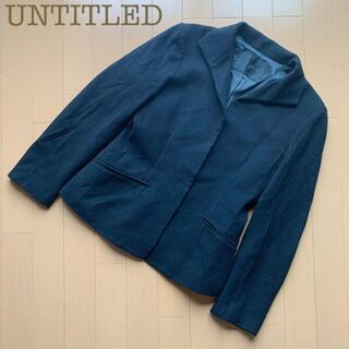 アンタイトル(UNTITLED)のUNTITLED(アンタイトル )カシミヤブレンドジャケット コート ブラック(ピーコート)