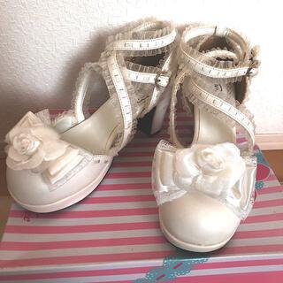 ベイビーザスターズシャインブライト(BABY,THE STARS SHINE BRIGHT)の※難あり! クイーンビー ロリータ靴 L(ハイヒール/パンプス)