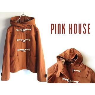 ピンクハウス(PINK HOUSE)のピンクハウス ペーハーブルー ソフトウールフラノ ショートダッフルコート(ダッフルコート)