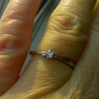 専用です ピンクダイヤモンドリング 0.11ct Pt900 14号(リング(指輪))
