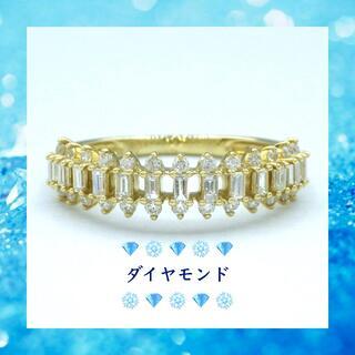キラキラ✨ダイヤモンド K18YG イエローゴールド リング 指輪(リング(指輪))
