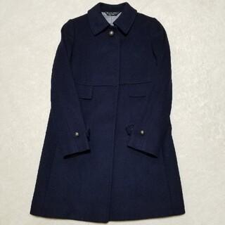 ポールスミス(Paul Smith)のPaul Smith  カシミア混羊毛コート ネイビー 42 2回着用 新品同様(ロングコート)