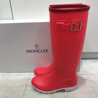 モンクレール(MONCLER)の☆新品☆モンクレール レインブーツ ピンク 22.5cm(レインブーツ/長靴)