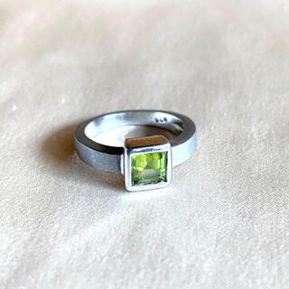 ペリドット 指輪 シルバー デザインリング 7号(リング(指輪))