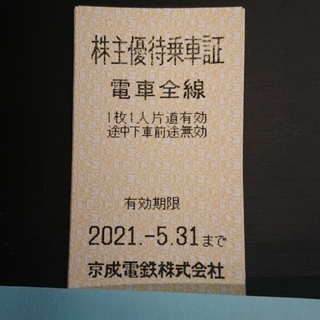 京成電鉄 株主優待乗車券 10枚 ③(鉄道乗車券)