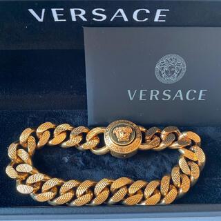 ヴェルサーチ(VERSACE)のVersace メデューサ ゴールドチェーンブレスレット L(ブレスレット)