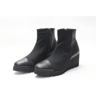 ヒミコ(卑弥呼)の新品♪Water massage ストレッチショートブーツ(24cm)(ブーツ)