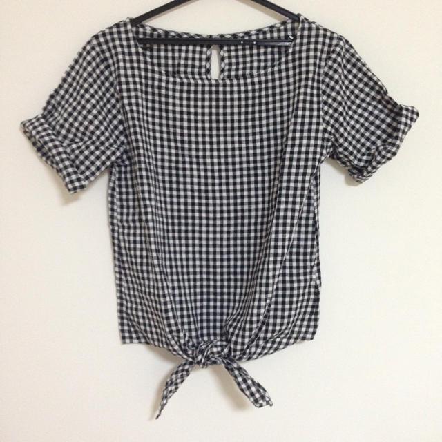GU(ジーユー)のギンガムチェックブラウス レディースのトップス(シャツ/ブラウス(半袖/袖なし))の商品写真