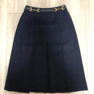 セリーヌ(celine)のオールドセリーヌ ボックスプリーツスカート(ひざ丈スカート)