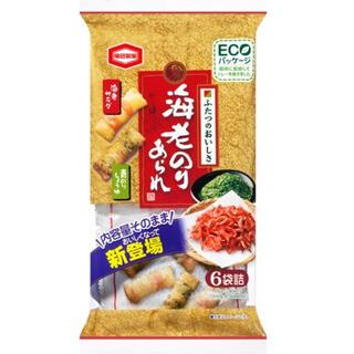 カメダセイカ(亀田製菓)の海老のりあられ 亀田製菓 小袋4袋(菓子/デザート)