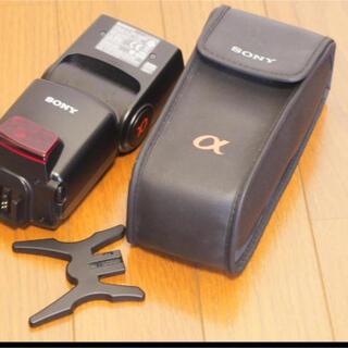 ソニー(SONY)の極美品 SONY ソニー フラッシュ HVL-F42AM(ストロボ/照明)