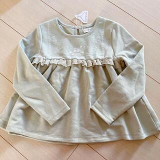 シマムラ(しまむら)のママラク mamaraku 刺繍チュニック(Tシャツ/カットソー)