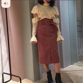 リリーブラウン(Lily Brown)のリリーブラウン♡ベロア太ベルトスカート(ひざ丈スカート)