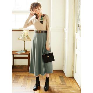 グレイル(GRL)のGRL ベルト付きフレアスカート グレイル(ロングスカート)