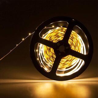 12V超高輝度 5M 600連 LEDテープ 防水 切断可能 白ベース/LEDグ(天井照明)