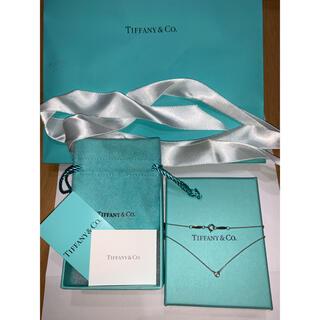 ティファニー(Tiffany & Co.)のTiffany 一粒ダイヤ ネックレス 新品未使用付属品あり(ネックレス)