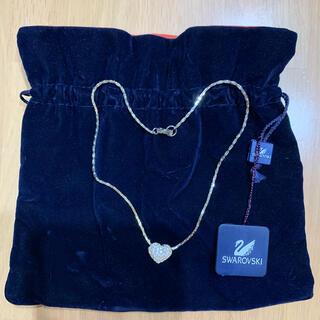 スワロフスキー(SWAROVSKI)のスワロフスキー ハートネックレス 美品 巾着あり(ネックレス)