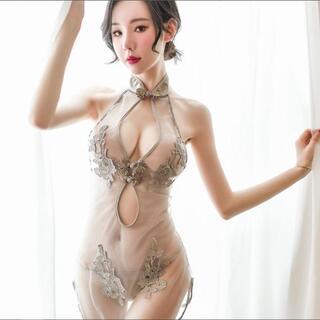 ♥セクシー薔薇刺繍ランジェリー♥コスプレ♥チャイナドレス♥エロい下着♥AN02G(衣装一式)
